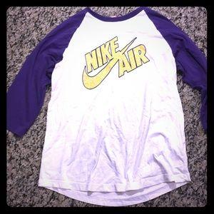 Nike air long 3/4 sleeve large